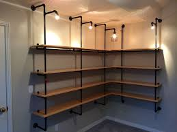 Black Iron Pipe shelving
