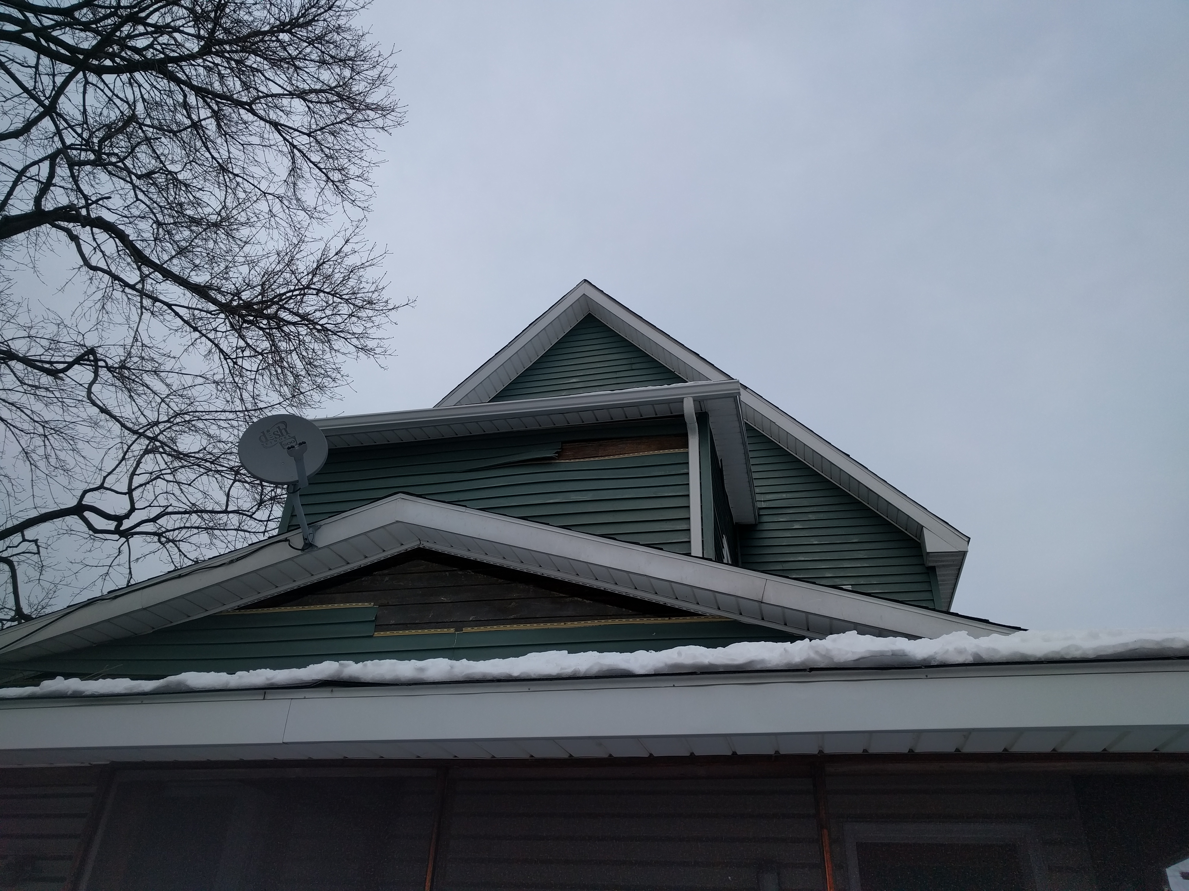 Supported bump-out with new gutters.